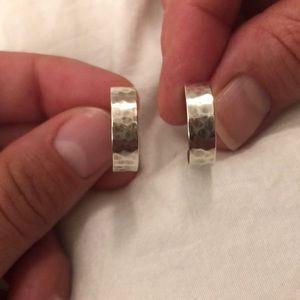 James Avery Silver Loop Earrings